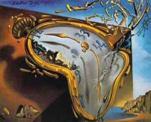 image is of soft watch by salvador dali